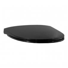 PRO NORDIC sėdynė su dangčiu, su Slow-Close, tvirtinama iš viršaus, juoda blizgi
