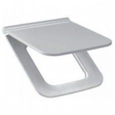 PURE Sėdynė su dangčiu, antibakterinė, chromuoti lankstai, su lėto nusileidimo sistema SLOW CLOSE