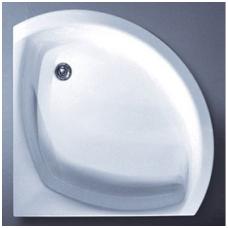 Akmens masės pusapvalis dušo padėklas VISPOOL C-90 (r550)