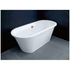 Akmens masės vonia VISPOOL ACCENT 167x71 ovali balta