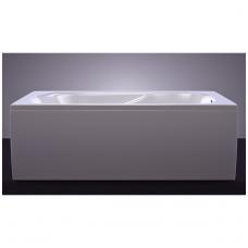 Akmens masės vonia VISPOOL CLASSICA 170x75 stačiakampė balta