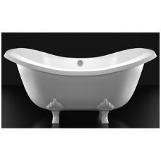 Akmens masės vonia VISPOOL IMPERO 1950x900 balta (be kojų)