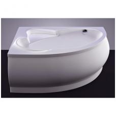 Akmens masės vonia VISPOOL LAGO 150x100 dešinės pusės balta