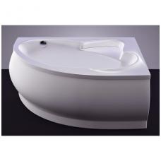 Akmens masės vonia VISPOOL LAGO 150x100 kairės pusės balta