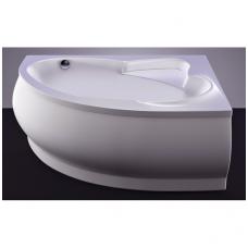 Akmens masės vonia VISPOOL MAREA 170x110 kairės pusės balta