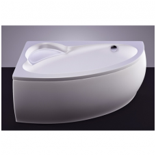 Akmens masės vonia VISPOOL PICCOLA 154x100 dešinės pusės balta