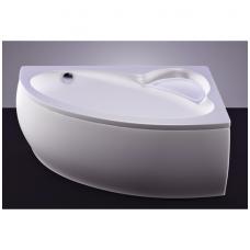 Akmens masės vonia VISPOOL PICCOLA 154x100 kairės pusės balta