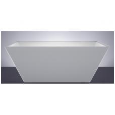 Akmens masės vonia VISPOOL QUADRO 160x80 balta