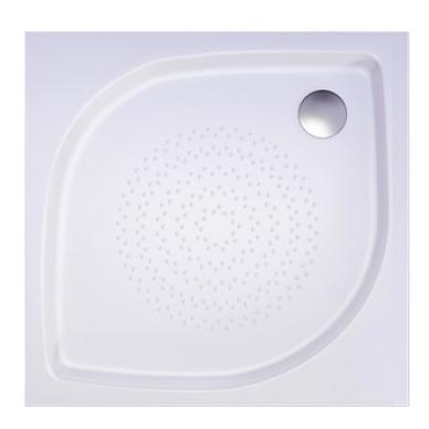 Akmens masės kvadratinis dušo padėklas VISPOOL KK-90