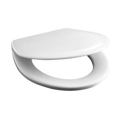 Antibakterinė sėdynė su dangčiu OLYMP/ LYRA BALTIC, plieniniai lankstai