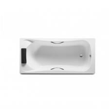 BECOOL 170 × 80 cm vienvietė akrilinė vonia, su atrama galvai ir chromuotomis rank.