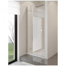Dušo durys NEW TRENDY MODENA 100 kairinės, skaidrus stiklas
