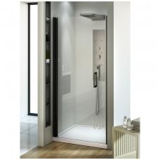 Dušo durys NEW TRENDY NEGRA 90, skaidrus stiklas