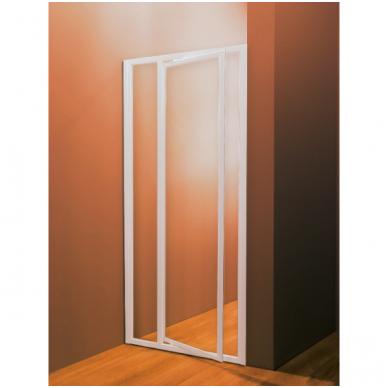 Dušo durys SDOP-90 Balta+PEARL