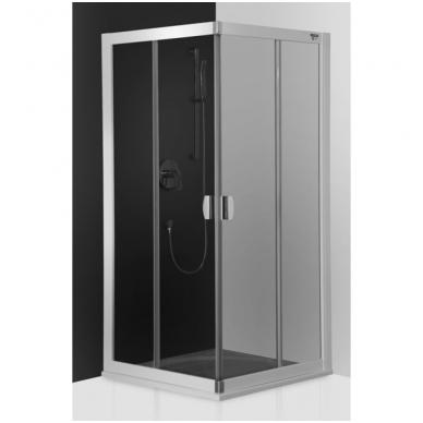 Dušo kabina ECS2 800/1850 Sidabras/Transparent