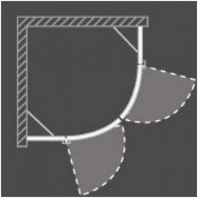 Dušo kabina GR2 1000/2000 Brillant/Transparent, R550 2