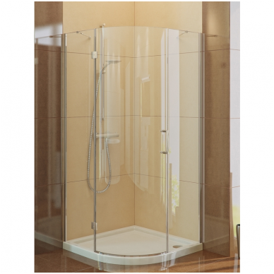 Dušo kabina NEW TRENDY MERANA 90 kairinė, skaidrus stiklas