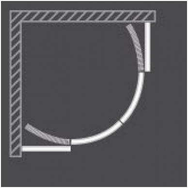 Dušo kabina PXR2N/900 LH/Transparent 2