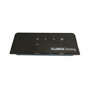 GLAMOX Heating H40 H konvekcinis elektrinis radiatorius pilkas 4