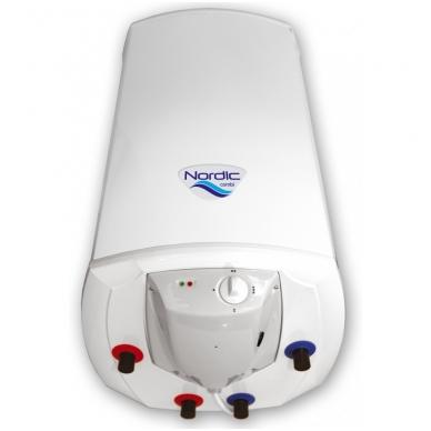 "Kombinuotas greitaeigis vand. šildytuvas Elektromet NORDIC COMBI 2000 120L (""sausas"" 2x1,2kW), su el. valdymu"