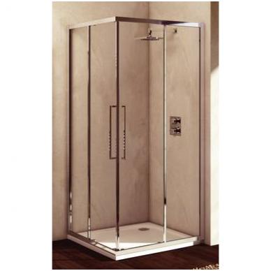 Komplektas iš dviejų dušo sienelių IDEAL STANDARD Kubo 90 cm, profilis chromas, stiklas skaidrus