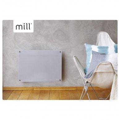 Mill Glass MB600DN  Elektrinis radiatorius/šildytuvas PILKAS