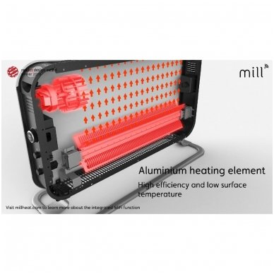 Mill SG2000LED konvekcinis radiatorius/šildytuvas 5