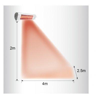 Mill X CB3000GD anglies pluošto infraraudonųjų spindulių šildytuvas 3