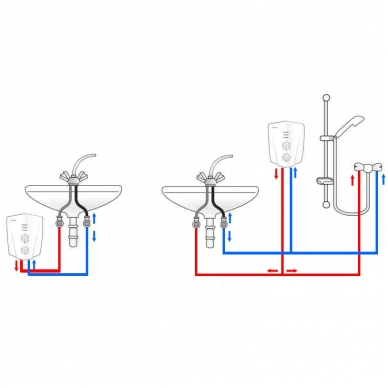 Momentinis vandens šildytuvas Veito V1200 su dušo galvute 2