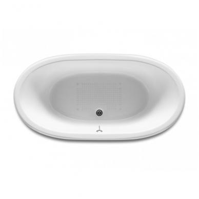 NEWCAST emaliuota ketaus vonia 170 × 85 cm, balta/balta, antislip, talpa 222 l 2