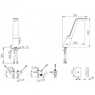 Plautuvės maišytuvas Alessi Sense, su išmaniuoju ventiliu indaplovei 2