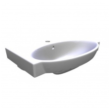 Praustuvas Jika TIGO, 55x41 cm, 1 anga maišytuvui viduryje