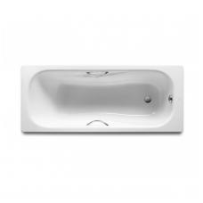 PRINCESS-N plieninė vonia 150x75 cm. su ranktūriais (7.5268.0.431.0) ir antislip danga , balta