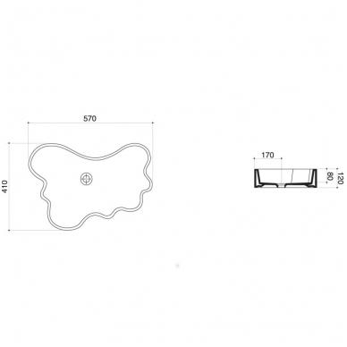 Praustuvas Mini Splash 57x41x12 cm, baltas 2