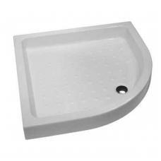 RAVENNA keraminis dušo padėklas 90x90x11 cm, pusapvalis, baltas