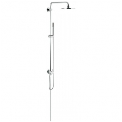 Rainshower System dušo sistema su diverteriu (stacionari galva Ø210, alkūnė 450mm, rankinis dušas) be maišytuvo