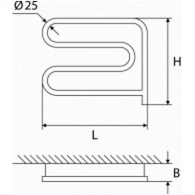 Rankšluosčių džiovintuvas ELONIKA EE 370 SLM D.P. 50W 2