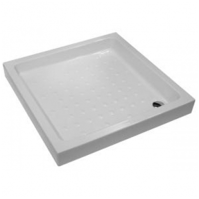 RAVENNA keraminis dušo padėklas 90x90x11 cm, kvadratinis, baltas