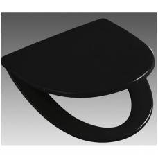 SIGN kietas unitazo dangtis lengvai nuimamas arba fiksuotas, juodas