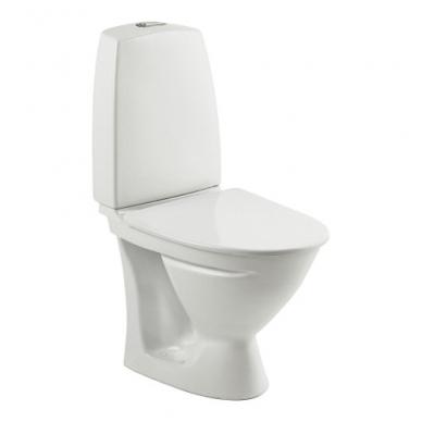 SIGN kombinuotas unitazas, horizontalus, siauras bakelis, 2/4 ltr. Fresh WC funkcija, klijuojamas
