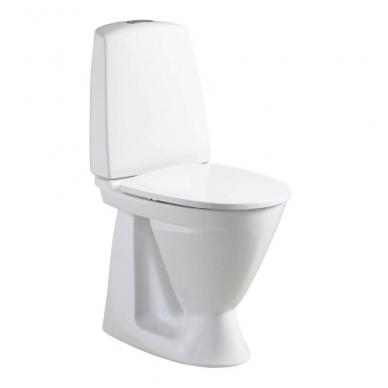 SIGN paaukštintas kombinuotas unitazas, vertikalus, 2/4 ltr. Fresh WC funkcija