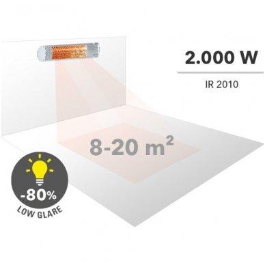 TROTEC IR 2010 halogeninis infraraudonųjų spindulių šildytuvas 6